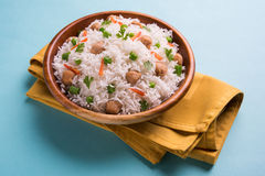Soya chunk pulav or rice Royalty Free Stock Image