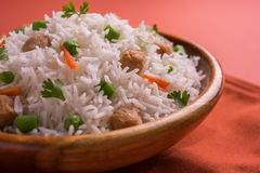 Soya chunk pulav or rice Stock Photos