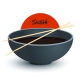 Soya för sushisymbol också vektor för coreldrawillustration Royaltyfri Fotografi