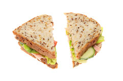 Soya and linseed sandwich Royalty Free Stock Photo
