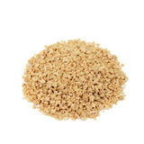 Soya protein mince. Soya protein mince on white background Stock Photo