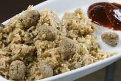 Soyabean Biryani - A rice preparation from India Stock Images