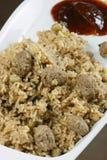 Soyabean Biryani - uma preparação do arroz com grãos e especiarias de soja Fotografia de Stock