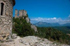 Soyans城堡废墟  库存图片
