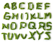 Soybean Alphabet Royalty Free Stock Images