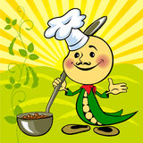 Soybean chef prepares. A meal Royalty Free Stock Photo