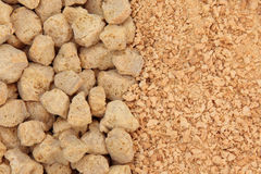 Soybean Chunks and Flakes Stock Image