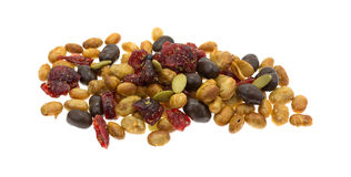 Soybean cranberry trail mix on a white background Royalty Free Stock Image