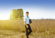 Soybean harvest Royalty Free Stock Photography