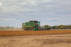 Soybean harvesting Stock Images