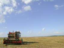 Soybean harvesting Royalty Free Stock Image