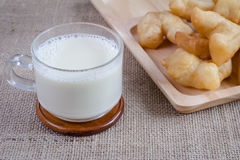 Free Soybean Milk With Fried Bread Stick Royalty Free Stock Photos - 62833578