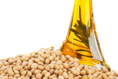 Soybean Oil. Isolated on white background Stock Photo
