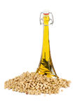 Soybean Oil. Isolated on white background Royalty Free Stock Photography