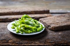Soybean are placed on the  table, japan food Stock Photos
