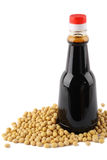 Soybean and soy sauce Royalty Free Stock Images