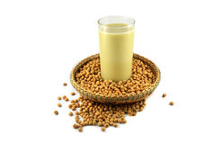 Soybean and soybean milk Stock Photo