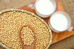 Soybean, soymilk, nutrition beverage Stock Photo