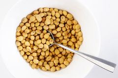 Soybean in spoon Royalty Free Stock Photography