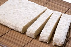 Soybean Tempeh Isolated Royalty Free Stock Photos