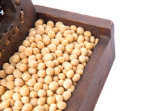 Soybean In Wooden Box III Royalty Free Stock Photography