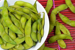 Soybeans. In a bowl Royalty Free Stock Photography