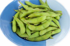 Soybeans boil and dish Royalty Free Stock Photo