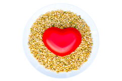 Soybeans health care is heart Stock Photos