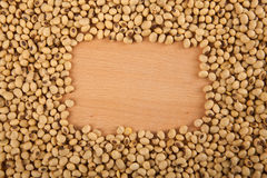 Soybeans with rectangular copy space Stock Photo
