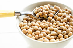 Soybeans. Soy beans in white cup Stock Photo