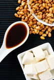 Soybeans with Soy Sauce and Tofu Royalty Free Stock Photos