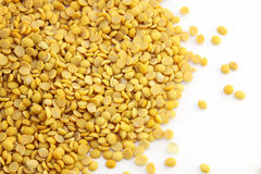 Soybeans, split in half Royalty Free Stock Photos