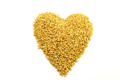 Soybeans, split in half concept heart Royalty Free Stock Images