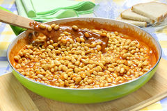 Soybeans with tomato sauce Stock Image