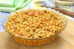 Soybeans with tomato sauce Stock Photography