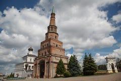 Soyembika塔在喀山克里姆林宫,鞑靼斯坦共和国,俄罗斯 免版税库存图片