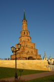 Soyembika Kontrollturm und Palast-Kirche in Kazan Kremlin Lizenzfreies Stockbild