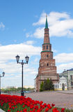 Soyembika Tower in Kazan Kremlin Stock Photos