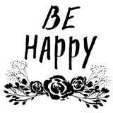 Soyez affiche heureuse illustration de vecteur