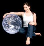 soyez aide d'ami de la terre votre Photo libre de droits