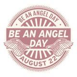 Soyez Angel Day, le 22 août illustration stock