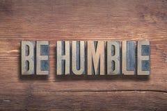 Soyez bois humble photographie stock