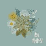 Soyez carte heureuse Images libres de droits