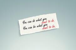 Soyez ce que vous voulez pour être. Images libres de droits