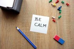 Soyez concept calme image stock