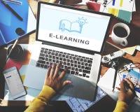 Soyez concept créatif de la connaissance d'éducation d'innovation d'apprentissage en ligne Photo stock