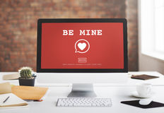 Soyez concept Romance de passion d'amour de coeur de Valantine de mine Photos stock