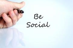 Soyez concept social des textes Images libres de droits