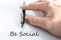 Soyez concept social des textes Photo libre de droits