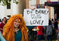 Soyez courageux Image stock